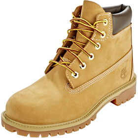 "Timberland Icon Collection Premium Boots Youth 6"" Medium Yellow Nubuck"